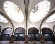 Voyage Russie, Moscou - Station de métro Mayakovskaya