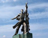 Voyage Moscou - VDNKh - Monument au Travailleur et à la Kolkhozienne