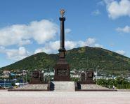 Voyage Russie, Kamtchatka, Petropavlovsk - Monument à la gloire des soldats