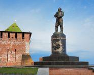 Voyage Russie, Nijni Novgorod - Monument en l'honneur de Tchkalov