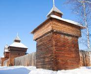 Vieux fort du musée ethnographique Taltsy d'Irkoutsk
