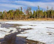Voyage Russie - Sibérie - Dégel de la glace sur la rivière Ob