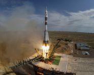 Lancement d'une fusée depuis le cosmodrome de Baïkonour