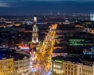 Kazan - Rue Bauman de nuit