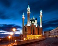 Kazan - Mosquée de nuit