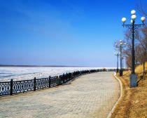 Voyage russie, transsibérien, Khabarovsk - Quai le long du fleuve Amour