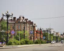 Voyage russie, transsibérien, Khabarovsk - Rue Nikolaï Mouraviov
