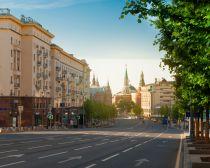 Rue Tverskaya à Moscou