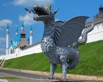 Kazan - Dragon et mosquée