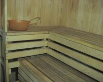 Sauna au gîte à Pitagi