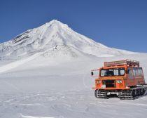 Voyage Kamtchatka Hiver - En route vers le volcan Avatchinski
