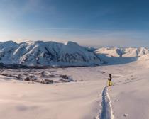 Journée ski au Kamtchatka