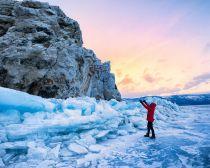 Voyage au Baïkal - Glace du Baïkal en hiver