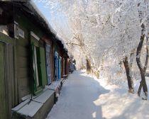 Voyage Baikal en hiver - Rues enneigées d'Irkoutsk