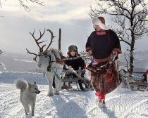 Dans un village Saami en Péninsule de Kola