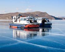 Voyage au Baikal en hiver - Aeroglisseur sur le Baikal