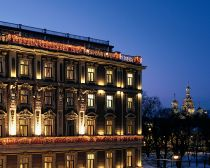 Grand Hotel Europe - Façade la nuit