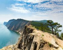 Le cap Khoboi sur l'ile Olkhon, Baikal