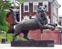 Irkoutsk : statue de zibeline