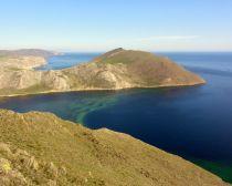 Baikal : vue sur la Baie d'Aya du mont Chérébé