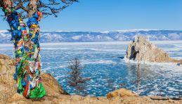 Lac Baikal en hiver