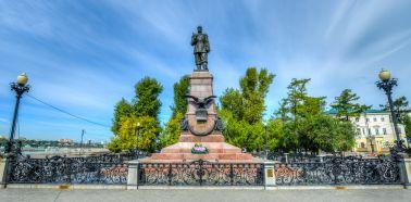 Voyage Russie, Baikal, Irkoutsk - Le monument à Alexandre III