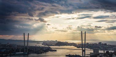 Voyage russie, transsibérien, Vladivostok - Vue aérienne de Vladivostok