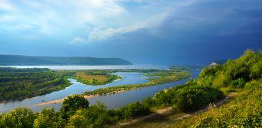 Voyage Russie, Volga - Vue de la Volga aux alentours de Samara