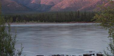Vue sur la rivière Indigirka