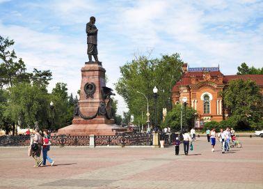 Voyage Irkoutsk - Monument à Alexandre III