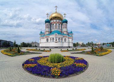 Voyage russie, sibérie, Omsk - La cathédrale de la Dormition