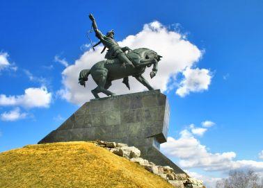 Voyage Oufa - Statue Salavat Ioulaïev