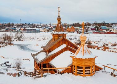 Voyage Russie - Autour de Moscou - Eglise en bois à Borovsk