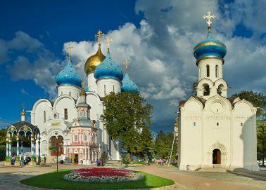 Voyage Russie, Anneau d'or, Serguiev Possad - La célèbre cathédrale de la Trinité