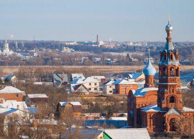 Voyage Russie - Autour de Moscou - Vue panoramique sur la vieille ville de Borovsk