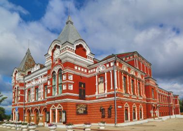 Voyage Russie, Volga, Samara - Le théâtre dramatique