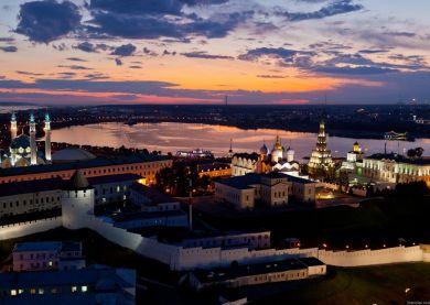 Kazan - Kremlin de nuit