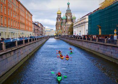 Tour de ville en kayak - Saint-Pétersbourg