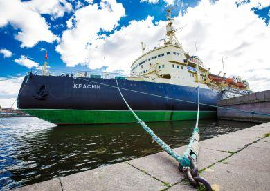 Visite du navire brise-glace Krassine, Saint-Pétersbourg