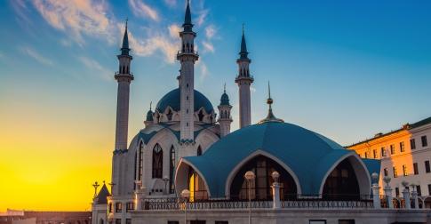 Voyage Kazan - La mosquée au coucher de soleil