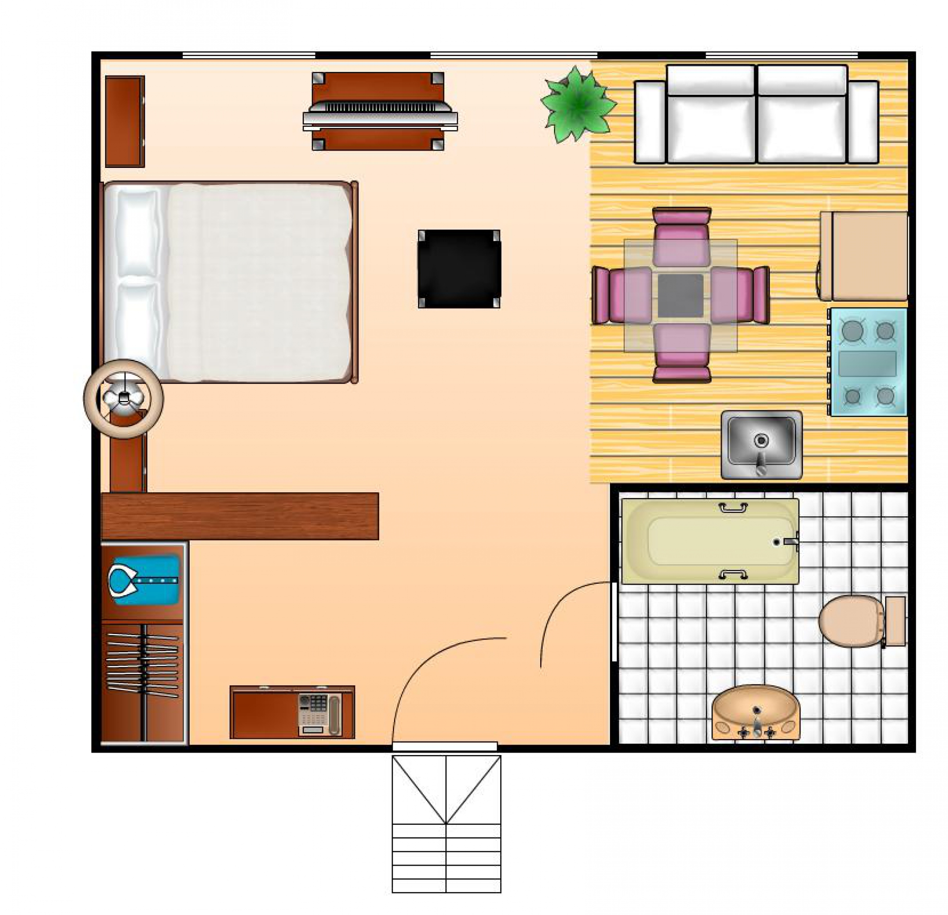 plan appartement 57m2