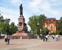 Irkoutsk - Monument à Alexandre III