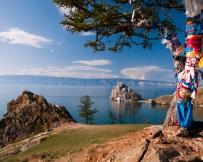 Paysage l'île Olkhon en été