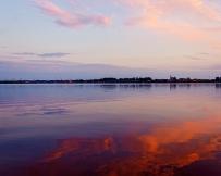 Carélie coucher de soleil