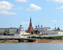 Kazan : vue depuis la Volga
