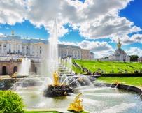 Vue panoramique du Palais Peterhof