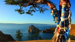 Baïkal : arbre à voeux sur l'île Olkhon